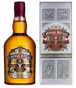 Zvětšit fotografii - Chivas Regal 12Y 0.7L 40% karton A - J.Becher