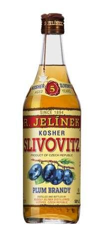 Zvětšit fotografii - Slivovice Kosher zlatá 5YR 50% 0,7L plech RJ A - R.Jelínek