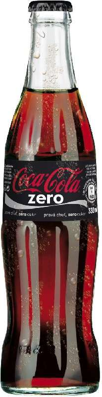 Zvětšit fotografii - Coca cola zero 0,33L sklo N - Coca cola