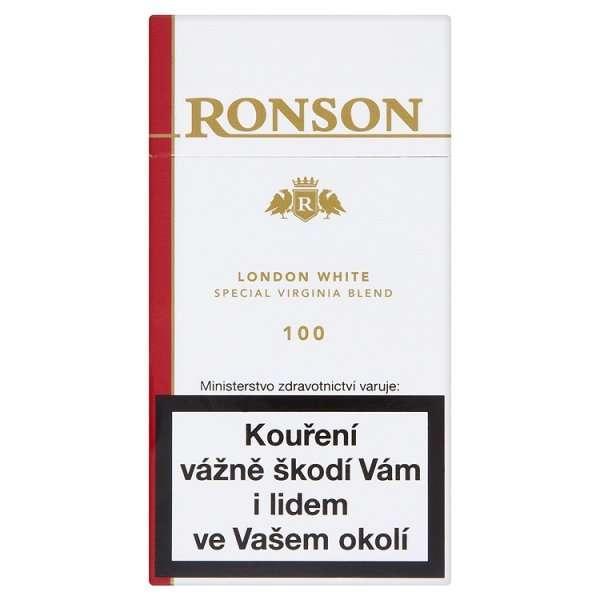 Zvětšit fotografii - Ronson London White 100 Winston Cigarety