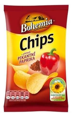 Zvětšit fotografii - Bohemia Chips - Paprika 77g