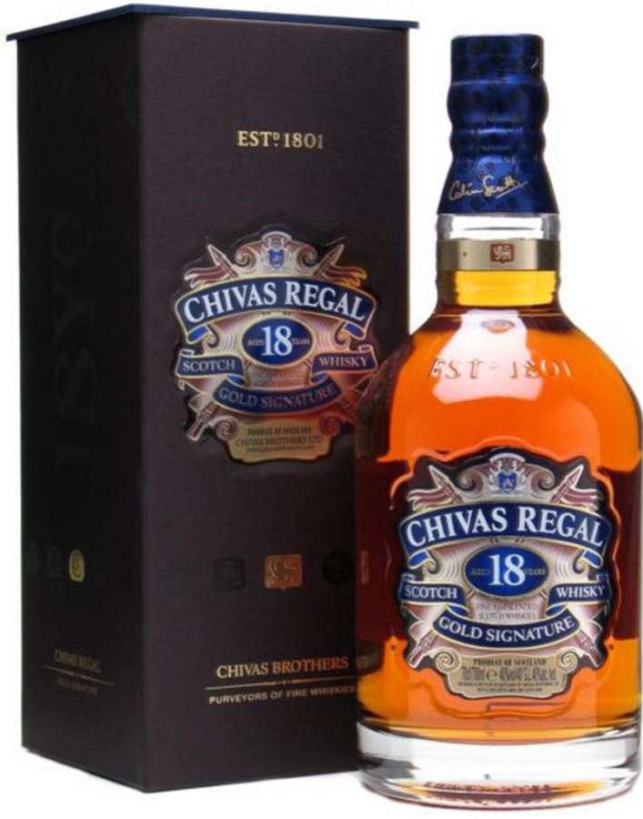 Zvětšit fotografii - Chivas Regal 18Y 0.7L 40% karton A - J.Becher