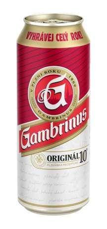 Zvětšit fotografii - Gambrinus 10° Original 0.5L / Plech 24ks C&C Karvina