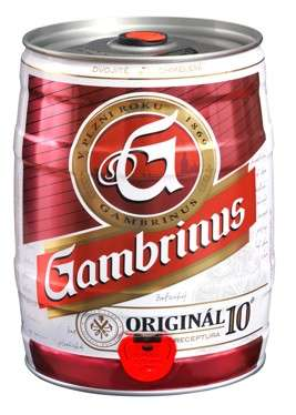 Zvětšit fotografii - Gambrinus 10° Original 5L / Soudek Plech C&C Karvina