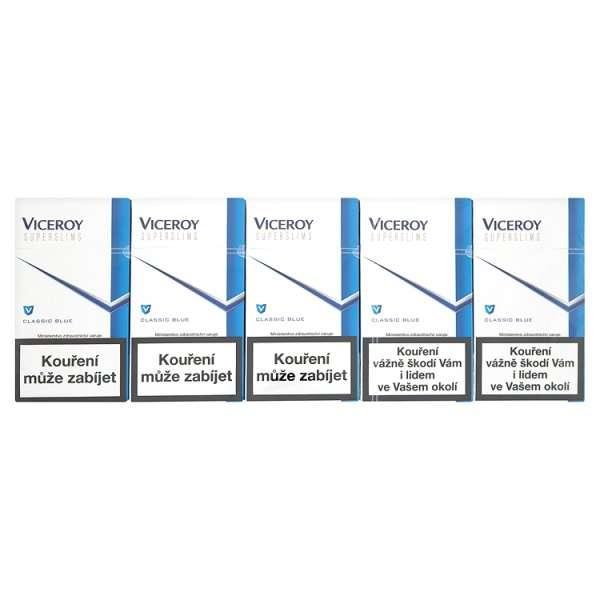 Zvětšit fotografii - Viceroy SLIM Modrá Cigarety