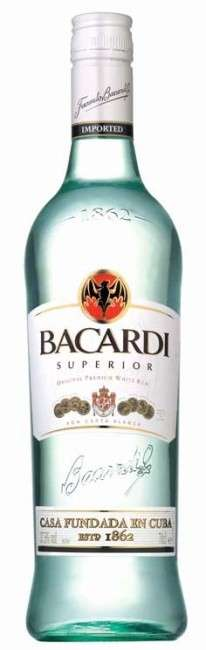 Zvětšit fotografii - Rum Bacardi Superior 1l 37.5% A - Brown Forman
